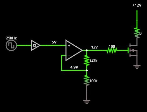 Using Op Amp to boost PWM voltage